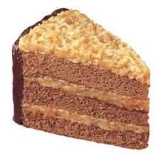 Sara Lee Round Iced German Chocolate Premium Butter Cream Layer Cake, 9 inch -- 4 per case.