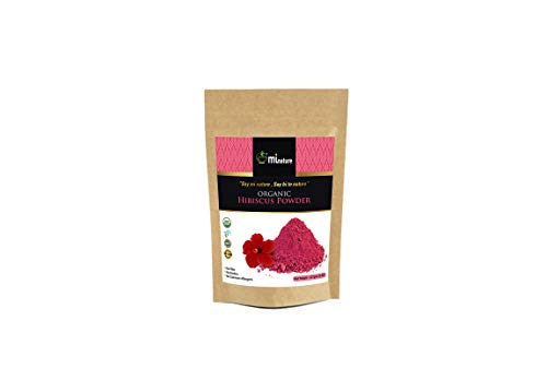 mi nature Hibiscus Powder(SABDARIFFA) / 100% Pure, Natural and Organic For Hair,Skin and Health / (227g / (1/2 lb) / 8 ounces) - Resealable Zip Lock Pouch