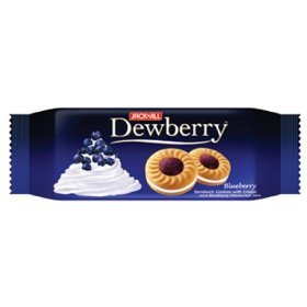Dewberry Thai Cookies Filled with Cream and Blueberry Jam 40g.x2pcs.