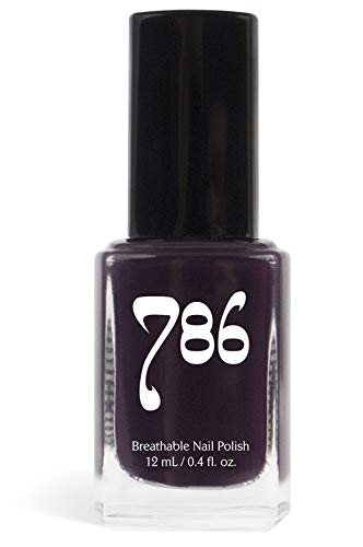 786 Cosmetics Pretoria - (Deep Purple) Vegan Nail Polish, Cruelty-Free, 11-Free, Halal Nail Polish, Fast-Drying Nail Polish, Best Purple Nail Polish