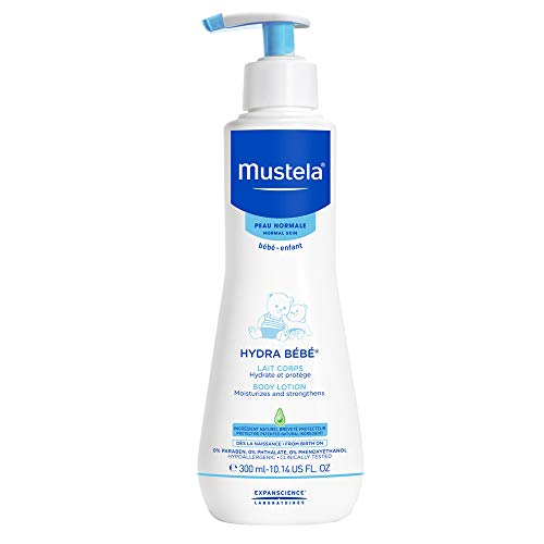 Mustela Hydra Bebe Body Lotion, Daily Moisturizing Baby Lotion for Normal Skin, with Natural Avocado Perseose, Various Sizes
