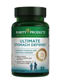Ultimate Stomach Defense from Purity Products | Only One Tiny Capsule Per Day! | Patented & Clinically Researched Ingredients | Reduces Minor Stomach Irritation and Heartburn* | 30 Capsules