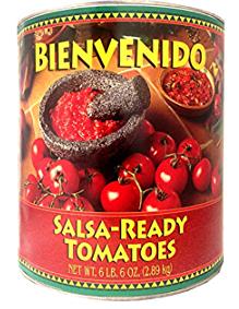 Bienvenido, Ultra-Premium Salsa-Ready Tomatoes, 102 oz