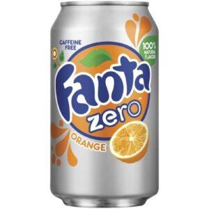 Fanta Orange Zero Soda, 12 Fl Oz Can (Pack of 18, Total of 216 Fl Oz)