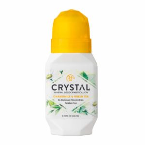 Crystal Mineral Deodorant Roll-On, Chamomile & Green Tea, 2.25 fl oz