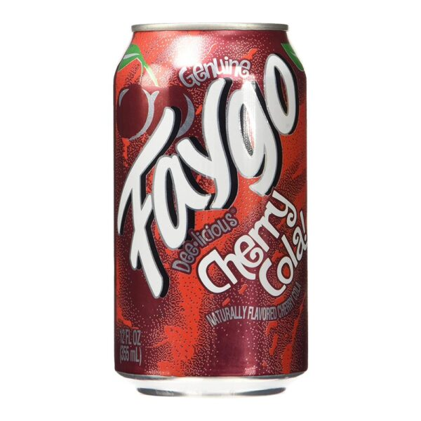 Faygo cherry cola soda pop, 12-oz. 12-pack cans