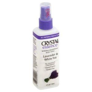 Crystal Essence Lavender and White Tea Body Spray - 4 oz - Liquid (Pack of 2)