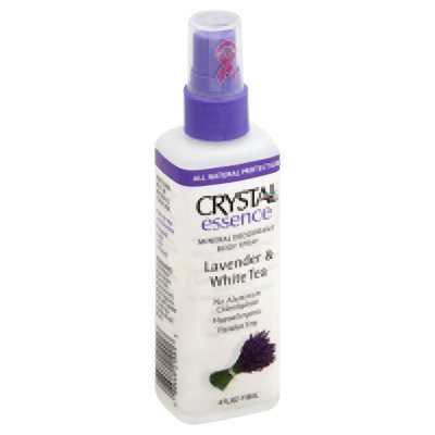 Crystal Essence Lavender and White Tea Body Spray - 4 oz - Liquid (Pack of 2)
