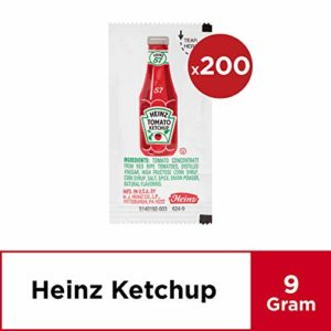 Heinz Ketchup Single Serve Packets (0.3 oz Packets, Pack of 200)