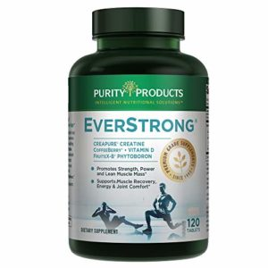 EverStrong - Muscle Matrix Blend | Creapure Creatine | Boron (FruiteX-B PhytoBoron) | CoffeeBerry Extract | Boosted with 1000 IU Vitamin D - 120 Tablets from Purity Products