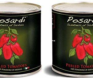 Posardi, Whole Peeled Tomatoes From Sardinia (Pack of 2), Imported from Sardinia Italy, 90 oz (each)