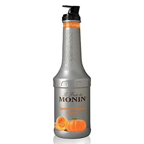 Monin - Spiced Pumpkin Purée, Pumpkin and Cinnamon Flavor, Natural Flavors, Great for Lattes, Milkshakes, Specialty Coffees, and Cocktails, Vegan, Non-GMO, Gluten-Free (1 Liter)