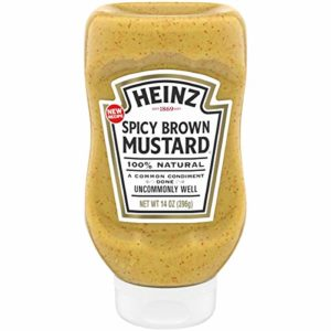 Heinz Spicy Brown Mustard (14 oz Bottle)