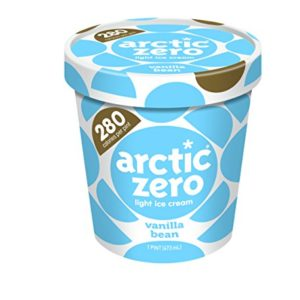 Pack of 6, Arctic Zero Light Ice Cream, Vanilla Bean Pint