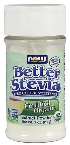 NOW Foods Better Stevia Organic Zero Calorie Powdered Sweetener -- 1 oz