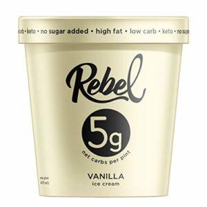 Rebel, Ice Cream Vanilla, 16 Ounce