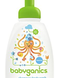 Babyganics Foaming Shampoo and Body Wash, Fragrance Free, 16 Ounce