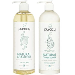 Puracy Natural Shampoo and Conditioner Set, Vegan Hair Care, No Harsh Chemicals, 16 Ounce, (2-Pack)