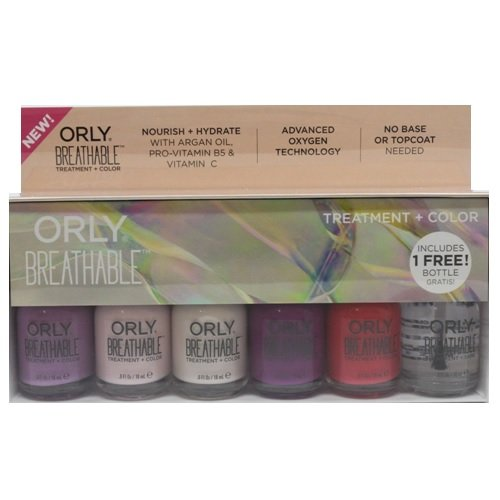 Orly Breathable Nail Lacquer - 6 Piece Kit - 18ml / 0.6oz Each