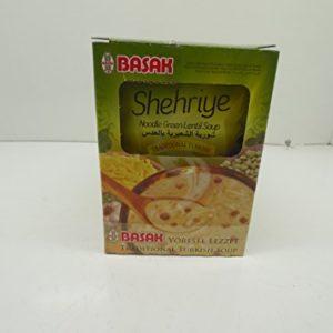 Basak Halal Noodle Green Lentil Soup, Pack of 12
