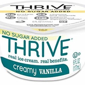 Thrive Frozen Nutrition, No Sugar Added Creamy Vanilla Ice Cream, 6 oz Cups (24 count)