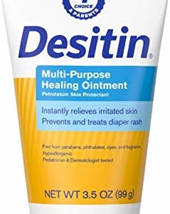 DESITIN Multipurpose Baby Diaper Rash Ointment with White Petrolatum Skin Protectant, 3.5 oz (Pack of 2)