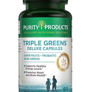Triple Greens Deluxe Capsules - 90 Caps Newly Updated Formula from Purity Products