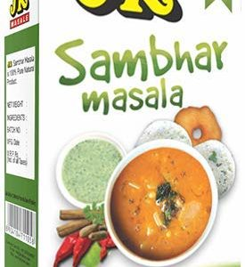 JK SAMBHAR MASALA 3.53 Oz, 100g (Sambar Curry Spice Mix, Dhal or Daal Curry) Non-GMO, Gluten free and NO preservatives!