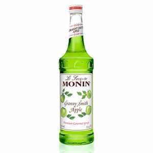 Monin - Granny Smith Apple Syrup, Tart and Sweet, Great for Cocktails and Lemonades, Gluten-Free, Vegan, Non-GMO (750 ml)