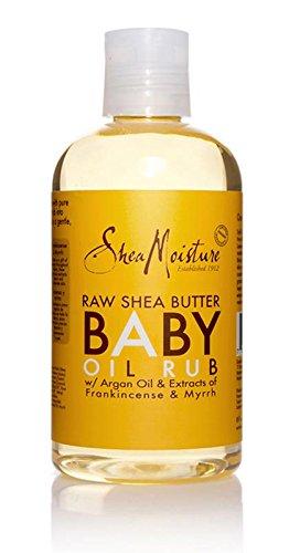 SheaMoisture Raw Shea Butter Baby Oil Rub,8 oz