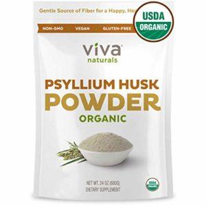 Viva Naturals Organic Psyllium Husk Powder, 24 oz (1.5 lb) Fiber Supplement - Perfect for Keto Bread & Gluten Free Baking