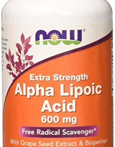 NOW FOODS Alpha Lipoic Acid 600mg Vcaps, 60 CT