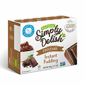 Simply Delish Natural Instant Chocolate Pudding - Sugar Free, Non GMO, Gluten Free, Fat Free, Lactose Free, 1.7 OZ (Pack of 6)
