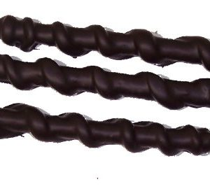 8oz Dark Chocolate Covered Caramel Pretzel Rods Certified Kosher-dairy