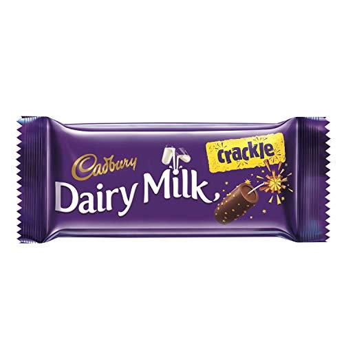Cadbury Dairy Milk Crackle Chocolate Bar, 36 grams (1.26 oz) - India (Vegetarian) (Pack of 10)