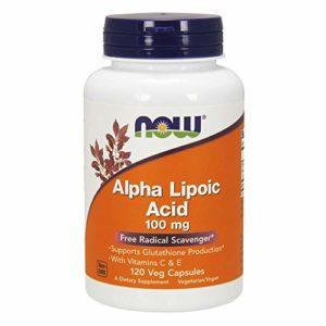Now Supplements, Alpha Lipoic Acid 100 mg with Vitamins C & E, 120 Veg Capsules