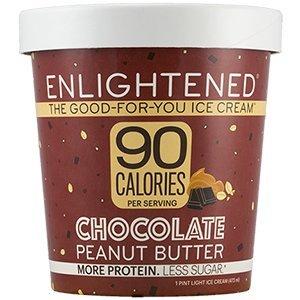 Enlightened Chocolate Peanut Butter Ice Cream Pint, 16 fl oz (Frozen)