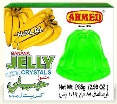 Ahmed Instant Set Banana Jelly Crystals (Halal) - 2.99oz by Ahmed