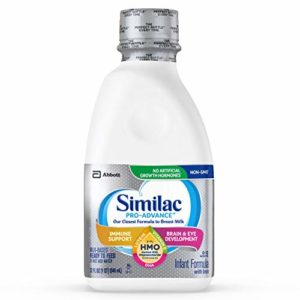 Similac Pro-Advance Non-GMO with 2-FL HMO Infant Formula Ready-to-Feed, 1qt Bottles (Pack of 6)