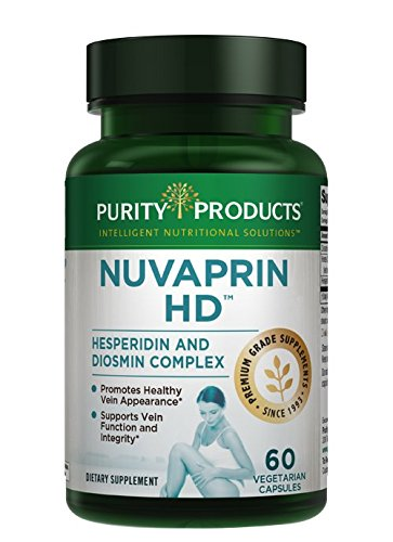 Purity Products Nuvaprin HD Healthy Leg and Venous Circulation Support - 50 mg Hesperidin, 450 mg Diosmin, 250 mg Horse Chestnut extract - 60 Vegetarian Capsules