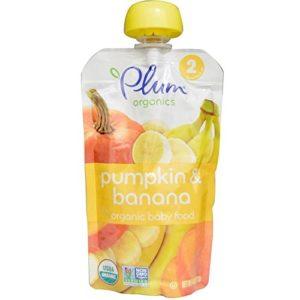 Plum Organics, Organic Baby Food, Stage 2, Pumpkin & Banana, 4 oz (113 g)