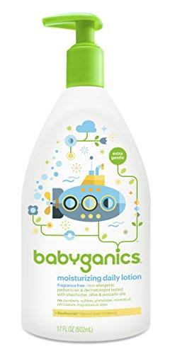 Babyganics Moisturizing Daily Lotion, Fragrance Free, 17 Fluid Ounce