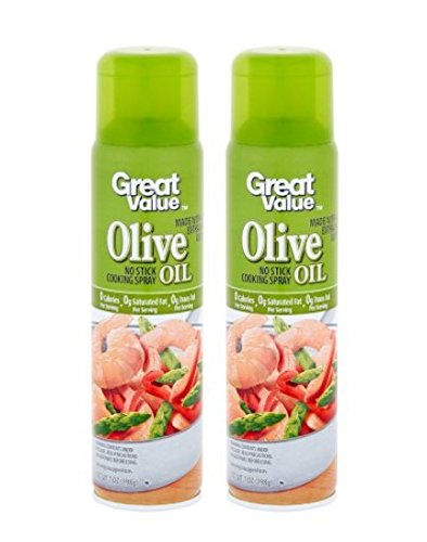 Great Value Extra Virgin Olive Oil Cooking Spray, 7 Oz (Pack of 2)