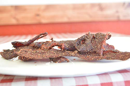 Halal Beef Jerky by Smoked n Chopped - Peppered Flavor 4oz (Spicy 4oz)