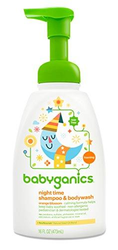 Babyganics Baby Shampoo Plus Body Wash, Orange Blossom, 16 Ounce
