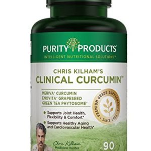 Chris Kilham's Clinical Meriva® Curcumin Formula - up to 29X Better Absorption - Full 1 Gram Clincal Dose of The Renowned Meriva® Bioavailable Curcumin - 90 Capsules from Purity Products