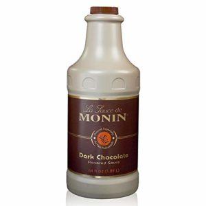 Monin - Gourmet Dark Chocolate Sauce, Velvety and Rich, Great for Desserts, Coffee, and Snacks, Gluten-Free, Vegan, Non-GMO (64 Ounce)