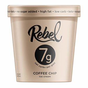 Rebel Ice Cream - Low Carb, Keto - Coffee Chip (8 Count)