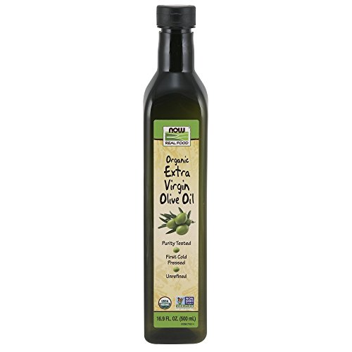 NOW Foods, Organic Extra Virgin Olive Cooking Oil in Plastic Bottle, Purity Tested, First Cold Pressed, Unrefined, 16.9-Ounce