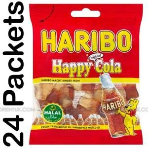 Haribo Halal Happy Cola 100g (Cola Aromali Yumusak Seker)